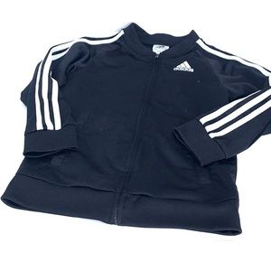 Kids adidas track jacket black white size 7